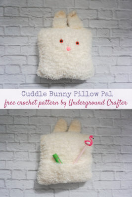 Cuddle Bunny Pillow Pal by Marie/Underground Crafter