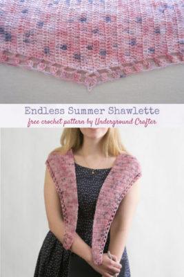 Endless Summer Shawlette by Marie/Underground Crafter