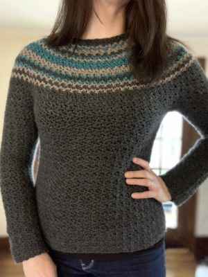 Night Moves Crochet Sweater by Cathy Black from City Farmhouse Studio