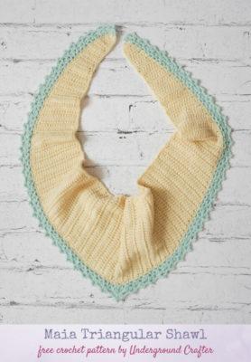 Maia Triangular Shawl by Marie/Underground Crafter