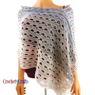 Simple Lace Crochet Summer Wrap Pattern by CrochetNCrafts