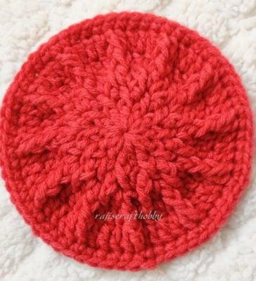Textured Crochet Spike Coaster by rajiscrafthobby