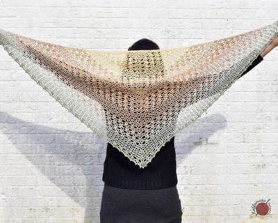The Proserpina V-Stitch Shawl by RaffamusaDesigns