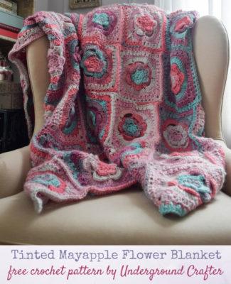 Tinted Mayapple Flower Blanket by Marie/Underground Crafter