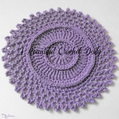 A Beautiful Doily in Worsted Weight Yarn by CrochetNCrafts