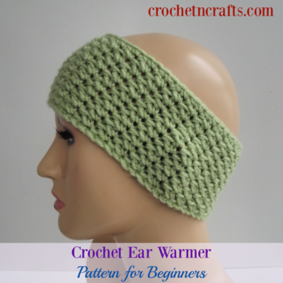 Crochet Ear Warmer Pattern for Beginners by CrochetNCrafts