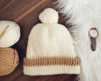 Knit-Look Crochet Hat by Sarah Ruane from Ned & Mimi