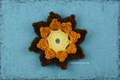 Double Layered Picot Flower #2 by blueraindrops