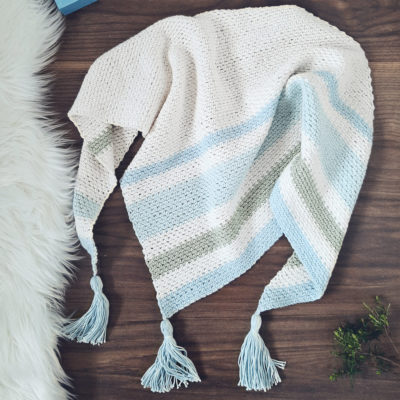 Forget Me Not Shawl by Sarah Ruane from Ned & Mimi
