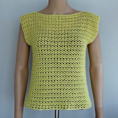 V-Stitch Crochet Top by CrochetNCrafts