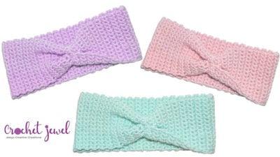 Crochet X Stitch Headband by Amy Lehman from Crochet Jewel