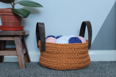 Chunky Tidy Up Basket by Veronika Cromwell from Blue Star Crochet Company