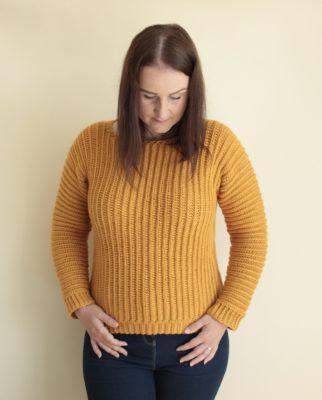 The Sideways Crochet Jumper by Veronika Cromwell from Blue Star Crochet Company
