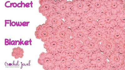 How to Crochet a Puff Stitch Flower Blanket Afghan by Amy Lehman from Amy's Crochet Creations