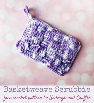 Basketweave Scrubbie by Marie/Underground Crafter