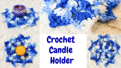 Crochet Candle Holder by rajiscrafthobby