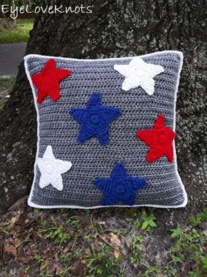 Seeing Stars Throw Pillow by Alexandra Richards/EyeLoveKnots