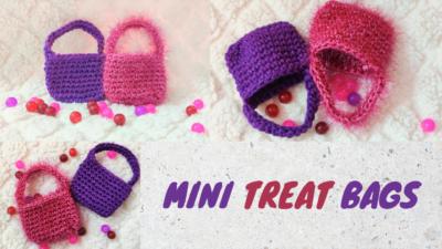 Crochet Mini Treat Bags by rajiscrafthobby