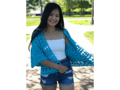 Crochet Lace Summer Grace Cardigan by KnitcroAddict for Underground Crafter