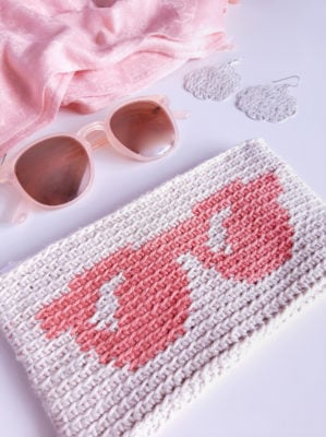 Tapestry Crochet Sunglasses Case by Sarah Ruane
