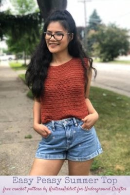 Easy Peasy Summer Top by KnitcroAddict/Undergroundcrafter