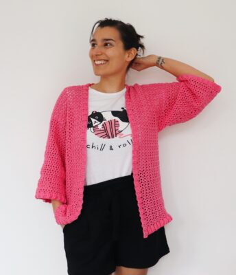 Easy Ribbed Kimono by Fluffy Stitches / Underground Crafter