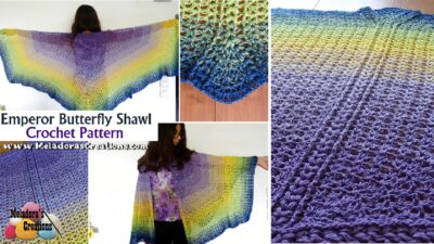 Emperor Butterfly Shawl by Candy Lifshes
