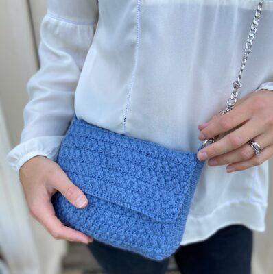 Denim Envelope Bag by Hannah Cross