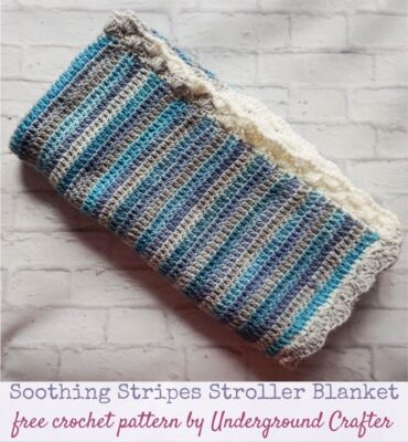 Soothing Stripes Stroller Blanket by Marie/Underground Crafter