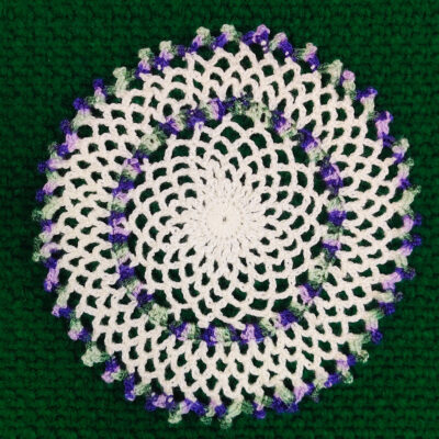 Easy To Make Crochet Chain Lace Doily by rajsicrafthobby