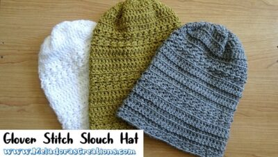Glover Stitch Slouch Hat by Candy Lifshes