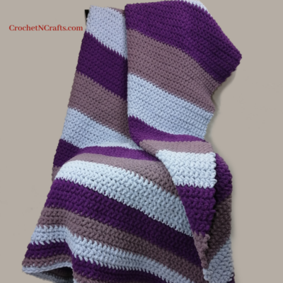 Growing Stripes Super Bulky Crochet Throw by CrochetNCrafts