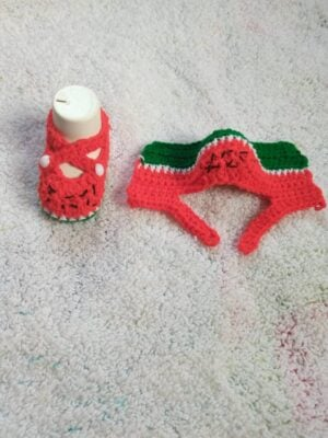 Watermelon Baby Booties by Toyslab Creations