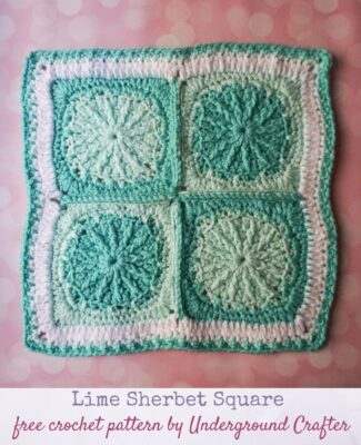Lime Sherbet Square by Marie/Underground Crafter