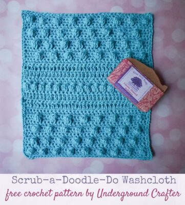 Scrub-a-Doodle-Do Washcloth by Marie/Underground Crafter