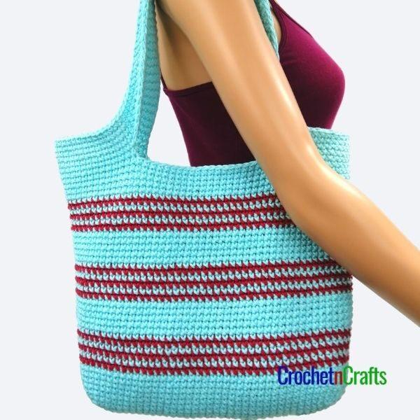 Simple Stripes Single Crochet Bag