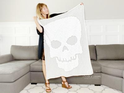 Skeleton Throw Blanket by Melissa Hassler