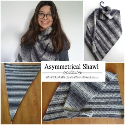 Asymmetrical Shawl by Candy Lifshes