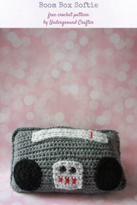 Boom Box Softie by Marie Segares/Underground Crafter