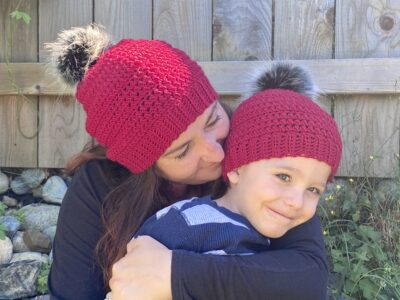 Whims Mommy & Me Beanie Set by Ashley Edmonds