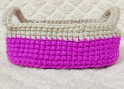 Make Your Own Crochet Oval Basket With Handles by rajiscrafthobby