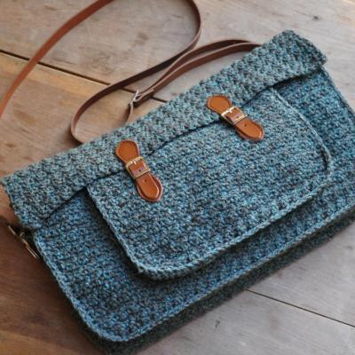 Quotidian Crochet Satchel by HanJan Crochet