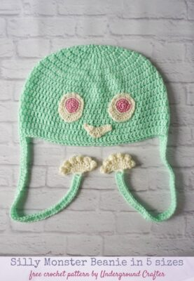 Silly Monster Beanie by Marie Segares/Underground Crafter.