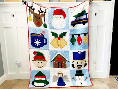 Christmas Blanket by Melissa Hassler from Lovable Loops