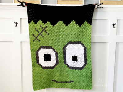 Frankenstein Blanket by Melissa Hassler from Lovable Loops