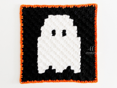 Ghost mini c2c by Melissa Hassler  from Lovable Loops