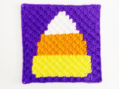 Candy Corn mini c2c by Melissa Hassler from Lovable Loops