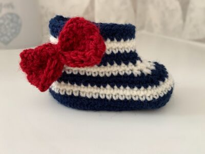 Summer Nights Baby Booties by Memory Lane Crochet.