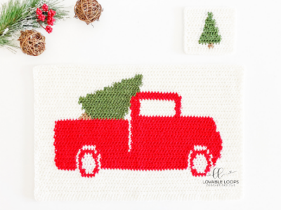 Winter Placemat & Coaster Set by Melissa Hassler from Lovable Loops