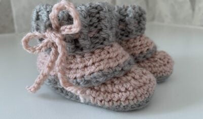 Mini Slouch Baby Booties by Memory lane crochet